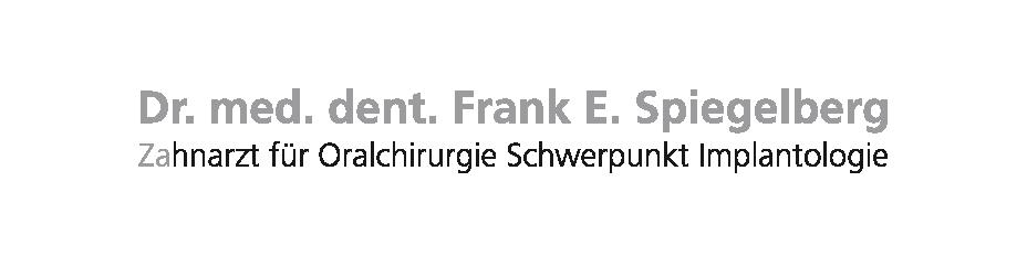 Dr. med. dent. Frank Spiegelberg - Zahnarzt für Oralchirurgie Schwerpunkt Implantologie